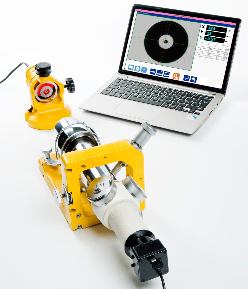 Digital Alignment Telescope for aircraft jigs or large machine tools